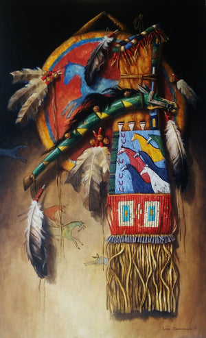 Horse Feathers-Painting-Lisa Danielle-Sorrel Sky Gallery