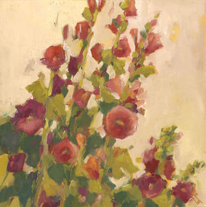 Lisa Flynn-Sorrel Sky Gallery-Painting-Hollyhocks