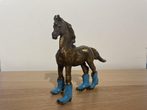 Foal Boots - Blue-Sculpture-Lisa Gordon-Sorrel Sky Gallery