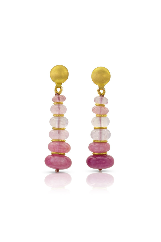 Pink Gradient Drop Earrings-Jewelry-Loren Nicole-Sorrel Sky Gallery