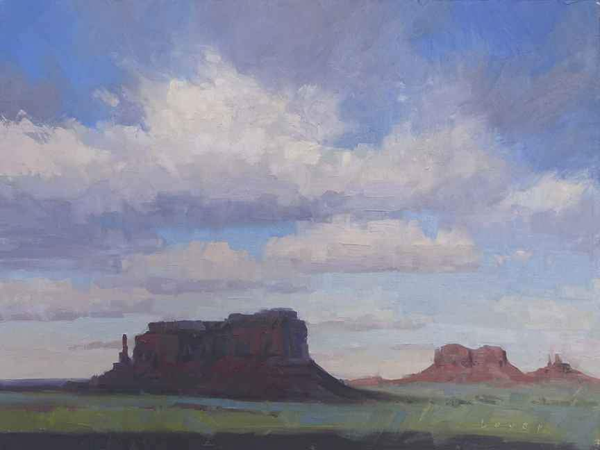 Lyn Boyer-Sorrel Sky Gallery-Painting-Eagle Mesa
