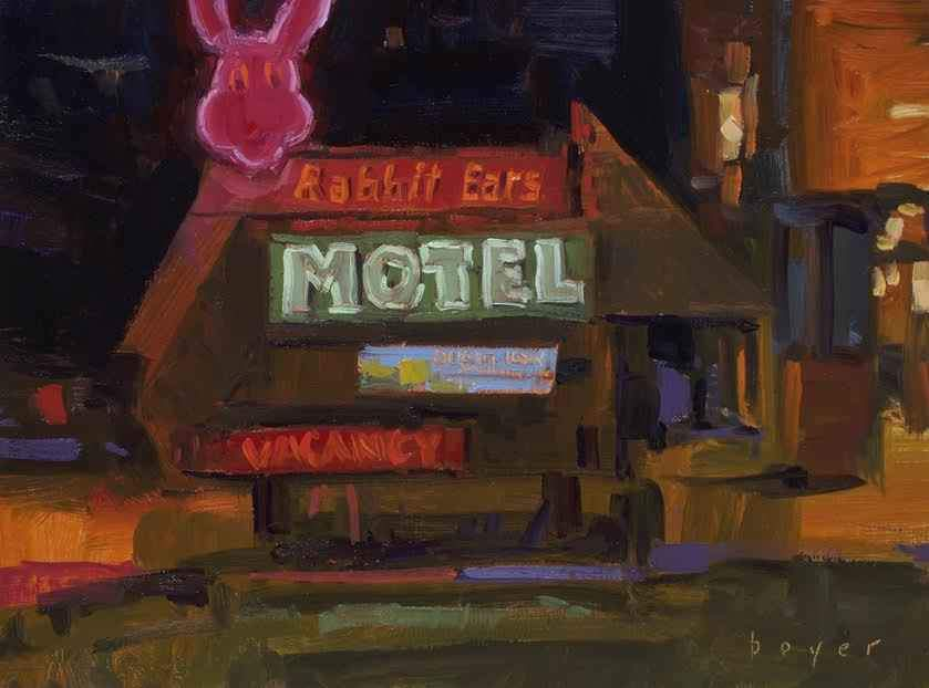 Lyn Boyer-Sorrel Sky Gallery-Painting-Rabbit Ears Motel