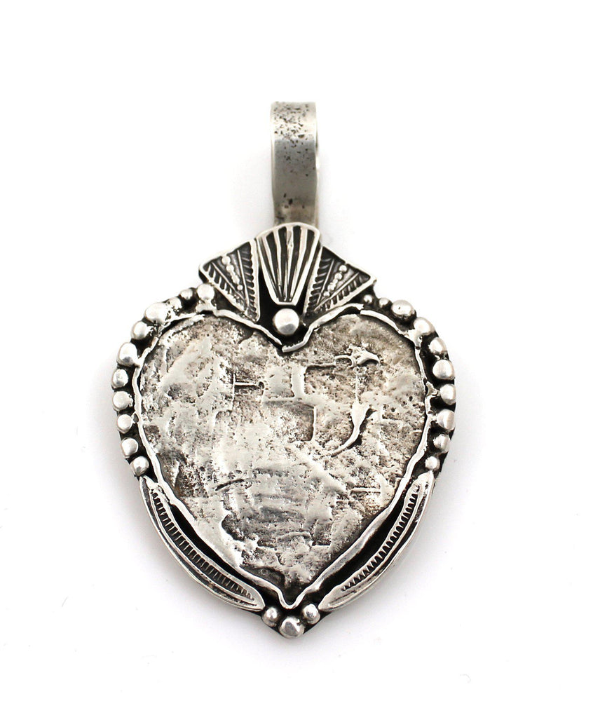 Heart With Shots Pendant-Jewelry-Maria Goler Baca-Sorrel Sky Gallery