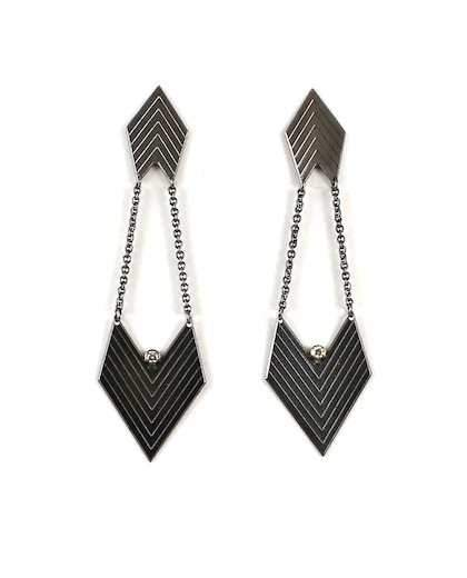 Chevron Diamond Earrings
