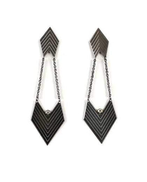 Maria Samora-Sorrel Sky Gallery-Jewelry-Chevron Diamond Earrings