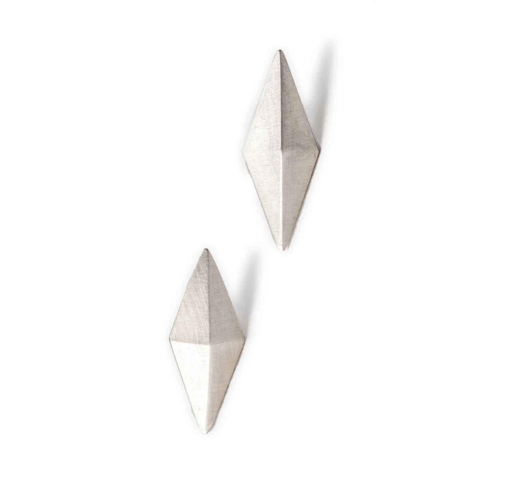 Diamond Peak Earrings-Jewelry-Maria Samora-Sorrel Sky Gallery