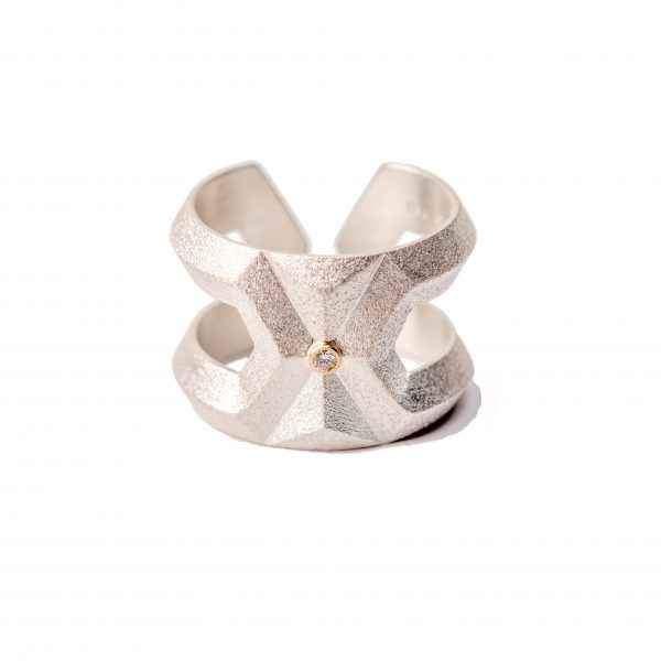 sterling silver geometric ring by maria samora
