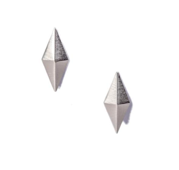 Large Diamond Peak Stud Earrings-Jewelry-Maria Samora-Sorrel Sky Gallery
