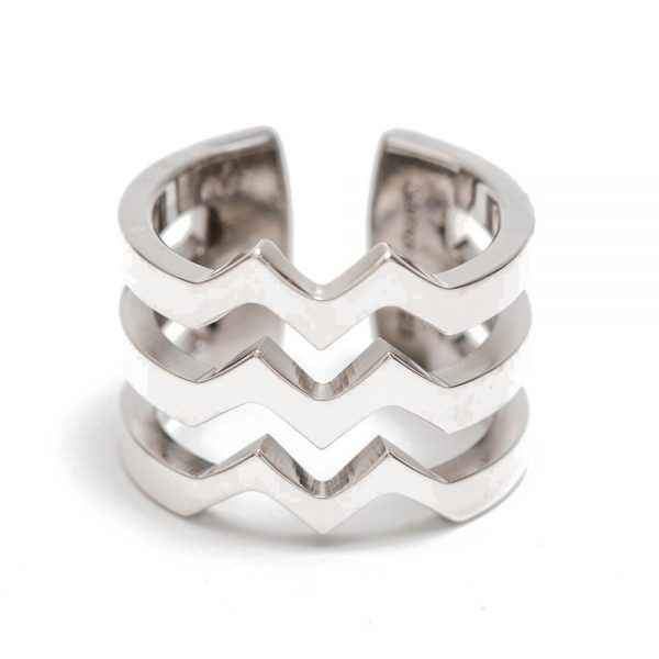 M Strata Silver Ring