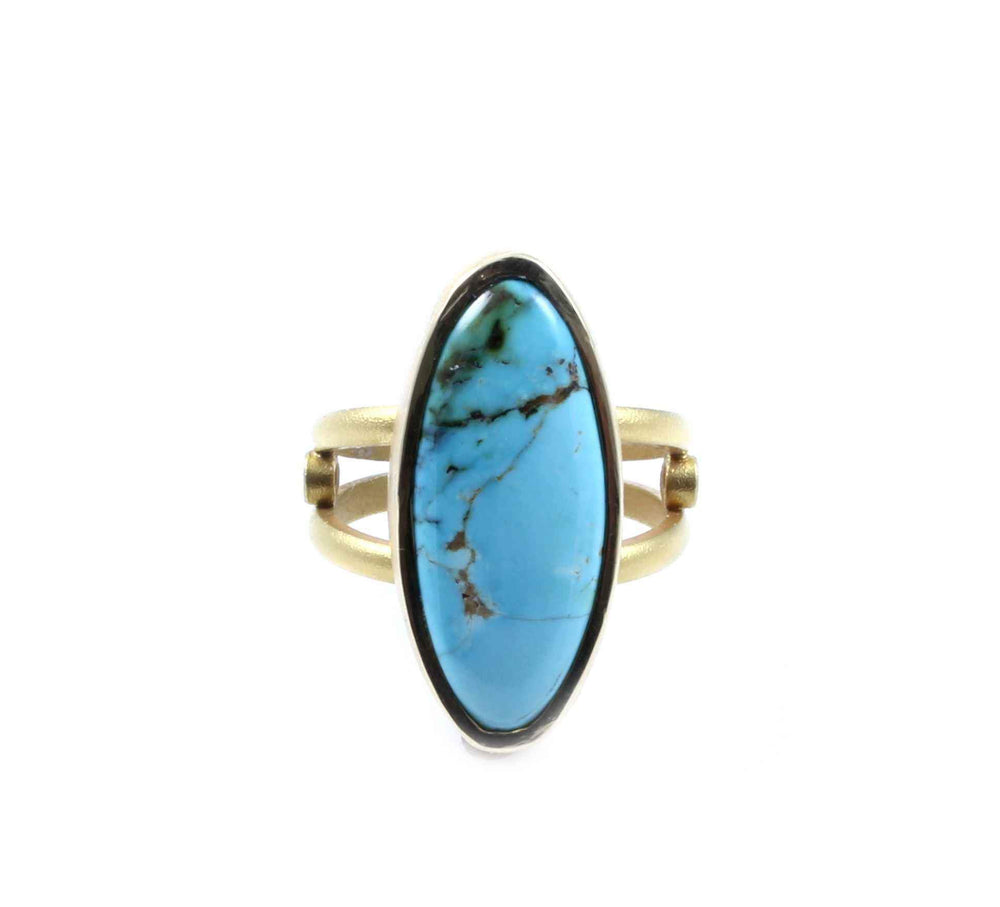 Maria Samora-Sorrel Sky Gallery-Jewelry-Morenci Turquoise Royal Ring