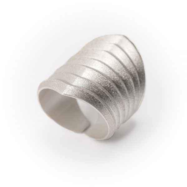 Rhomboid Silver Ring