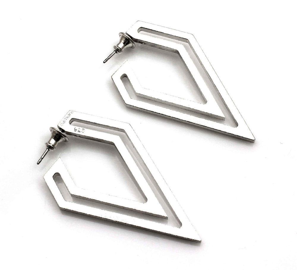 Small Strata Diamond Point Earrings