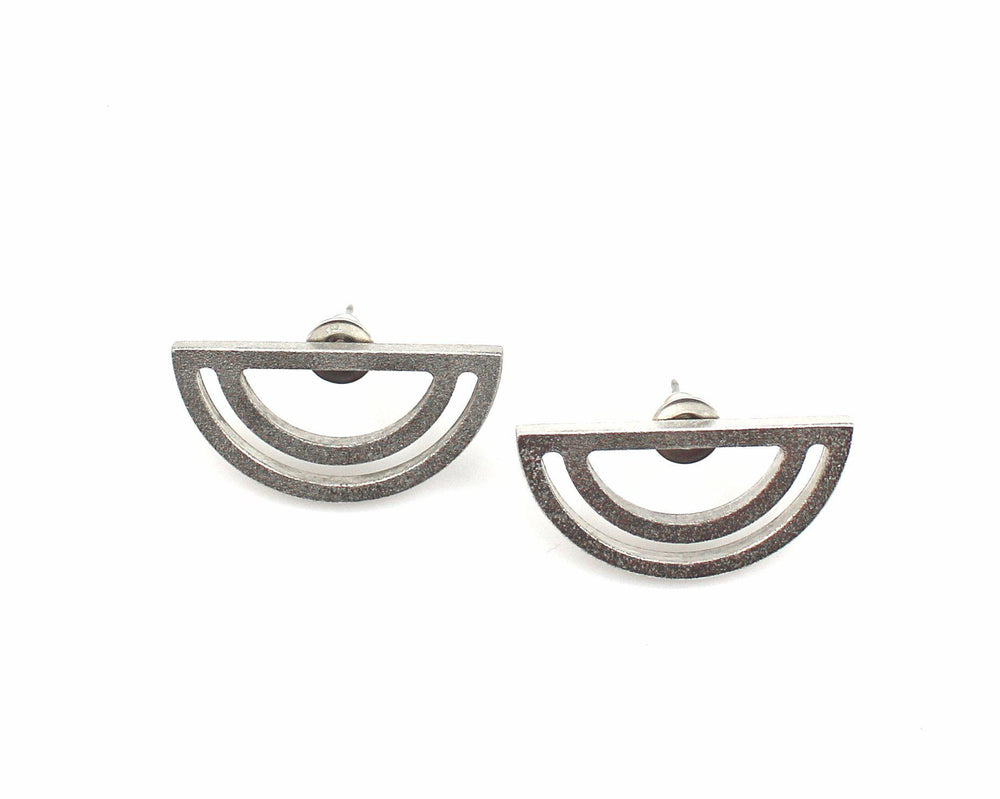 Strata Half Moon Earrings