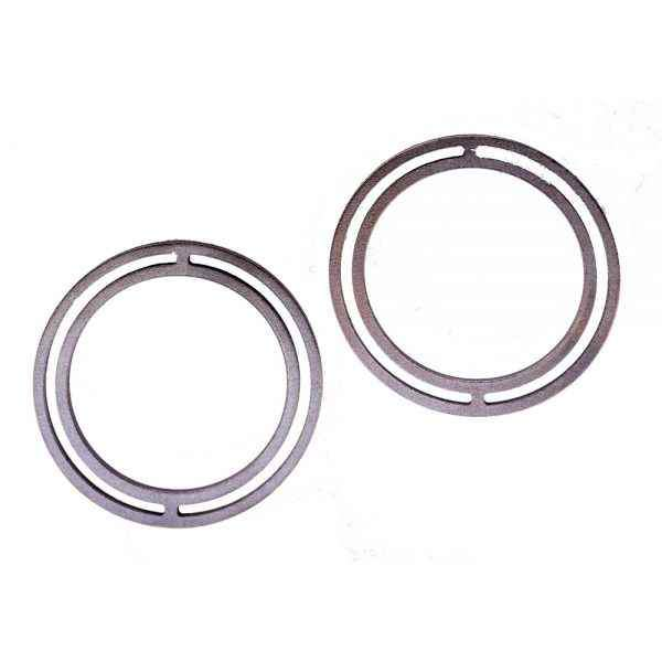Strata Large Full Moon Hoop Earrings