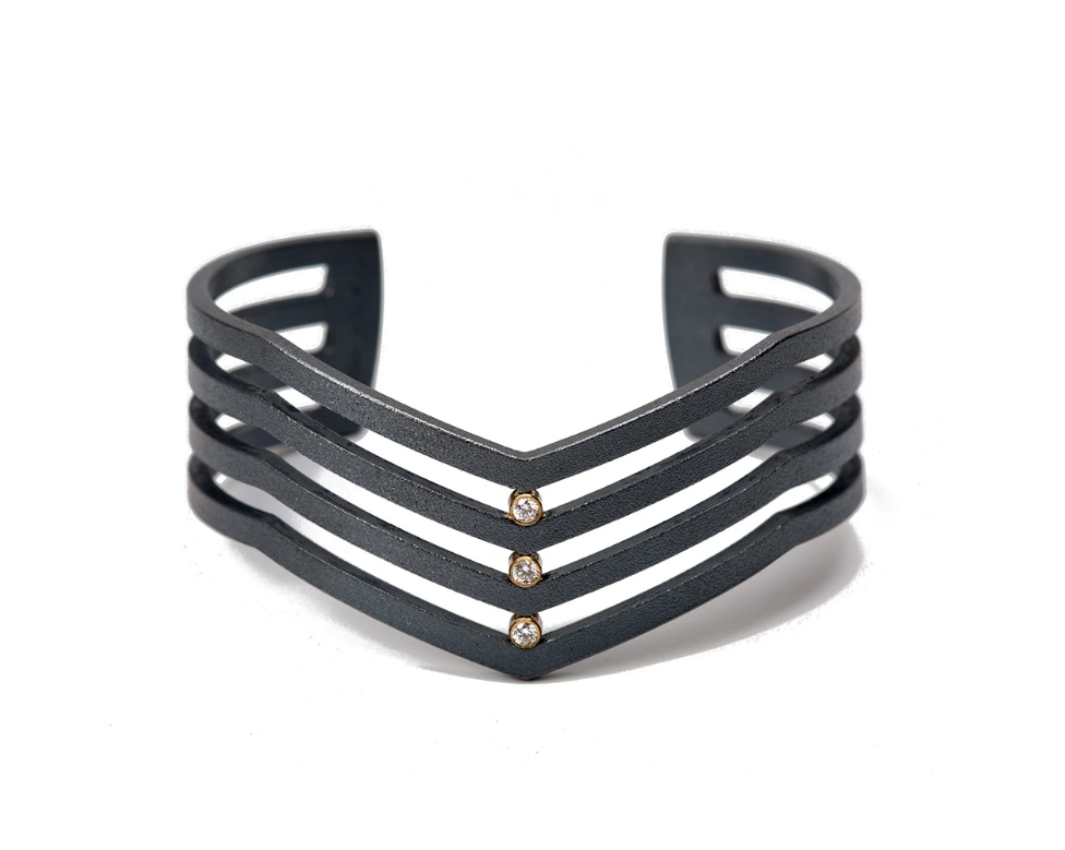 Strata Triple Diamond Cuff Bracelet