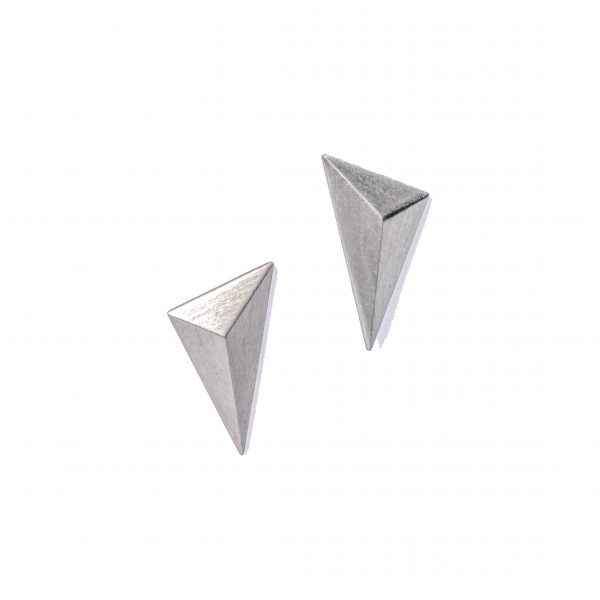 sterling silver geometric stud earrings by maria samora
