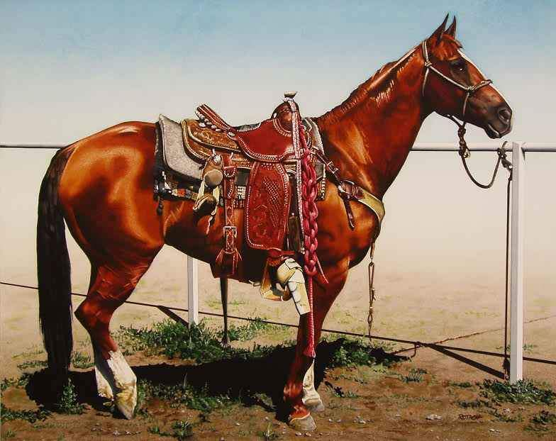 Marlin Rotach-Sorrel Sky Gallery-Painting-Cow Pony