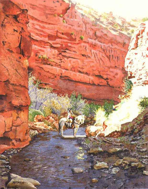 Marlin Rotach-Sorrel Sky Gallery-Painting-Light Of The Lost Canyon
