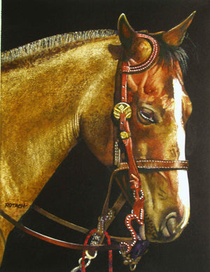 Marlin Rotach-Sorrel Sky Gallery-Painting-The Reticent Roan