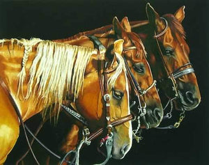 Marlin Rotach-Sorrel Sky Gallery-Painting-Three Amigos