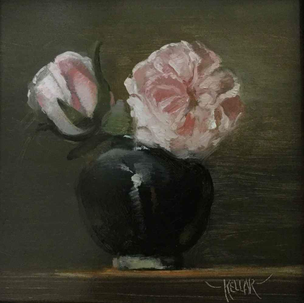 Martha Kellar-Sorrel Sky Gallery-Painting-First Roses