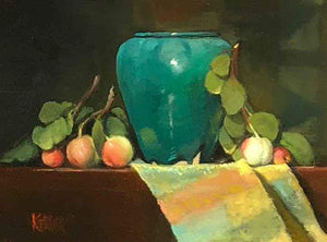 Martha Kellar-Sorrel Sky Gallery-Painting-Vase and Apples