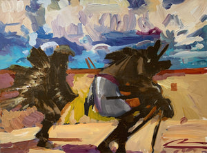 Eagle Dancers-Painting-Mateo Romero-Sorrel Sky Gallery