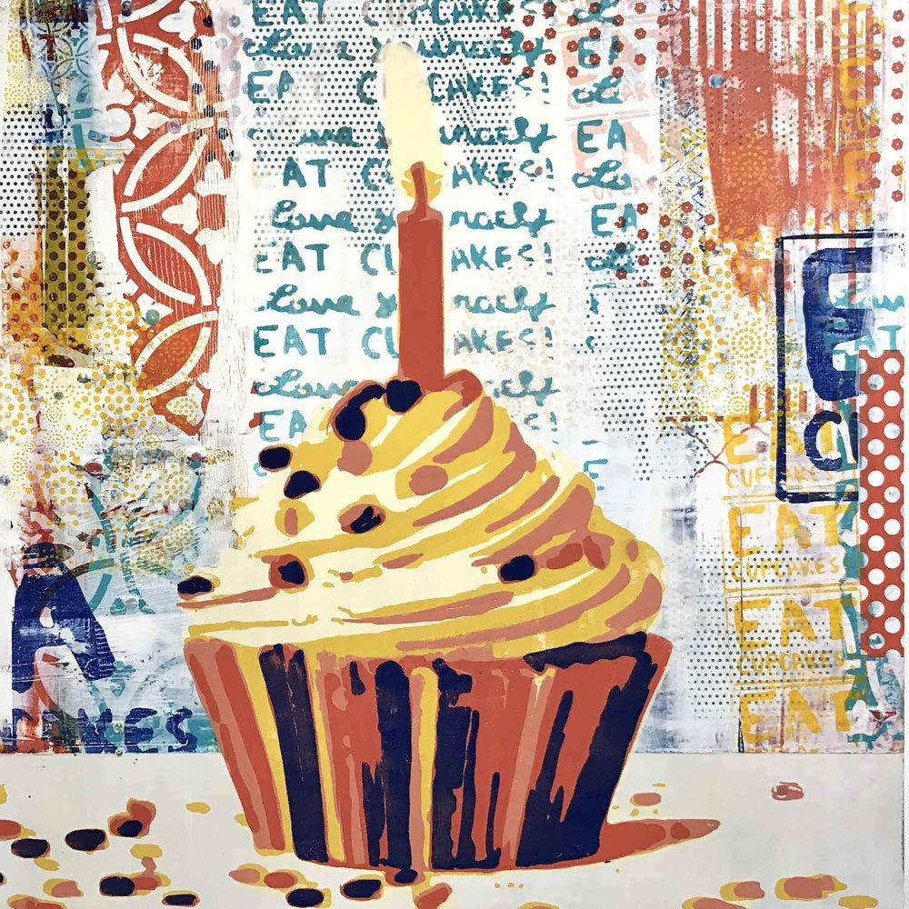 Maura Allen-Cupcake Love:It's Your Birthday-Sorrel Sky Gallery-Painting