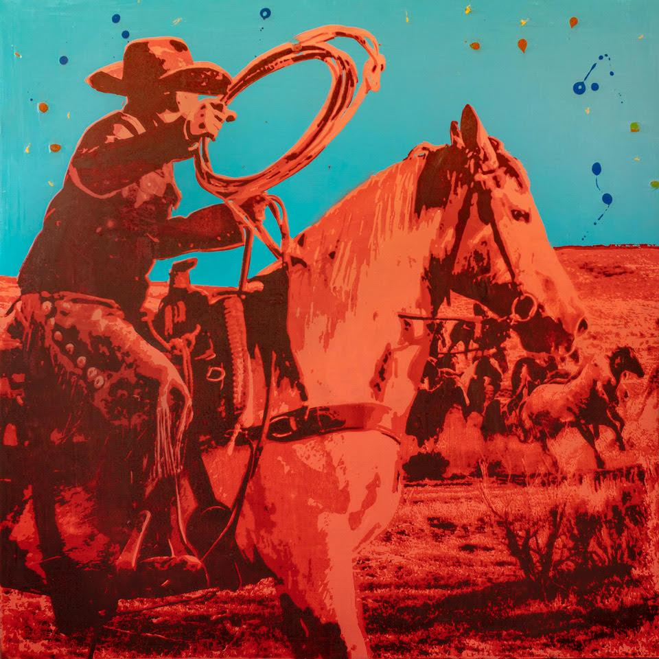 Out West | Roping-Painting-Maura Allen-Sorrel Sky Gallery