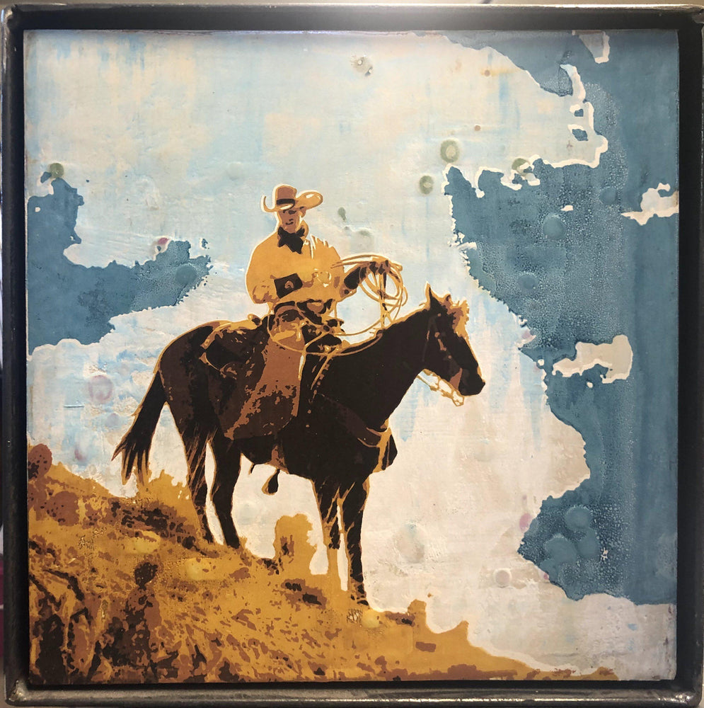 Untitled/Cowboy-Painting-Maura Allen-Sorrel Sky Gallery