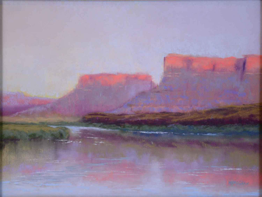 Evening Reflections Colorado River-Painting-McGraw, Maryann-Sorrel Sky Gallery