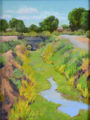 South Valley Acequia #2-Painting-McVey, Lee-Sorrel Sky Gallery