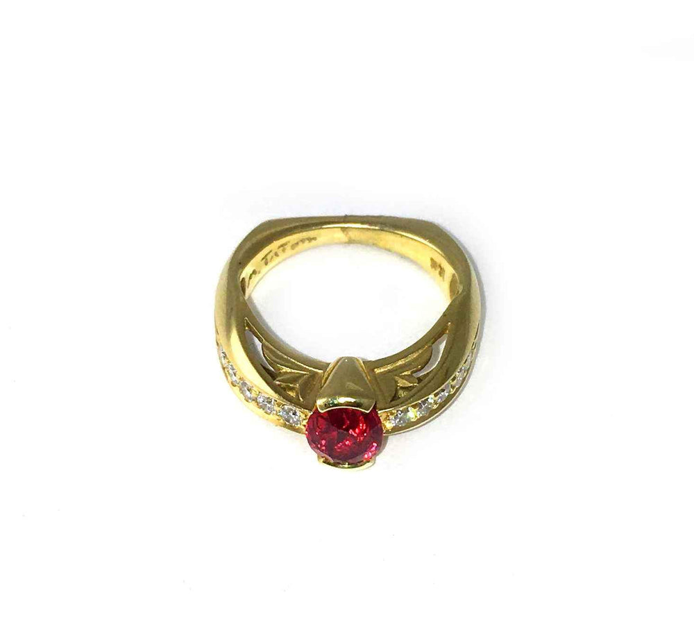 Fleur De Lis Spinel Ring-Jewelry-Michael Tatom-Sorrel Sky Gallery