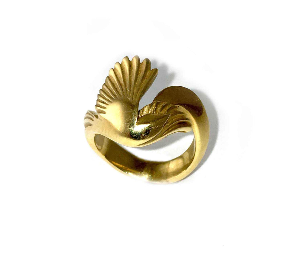 Gold Magpie Ring-Jewelry-Michael Tatom-Sorrel Sky Gallery