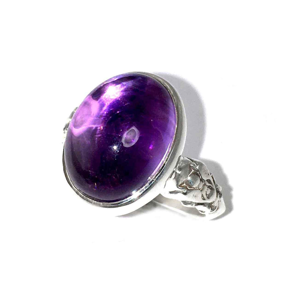 Large Bee Amethyst Ring