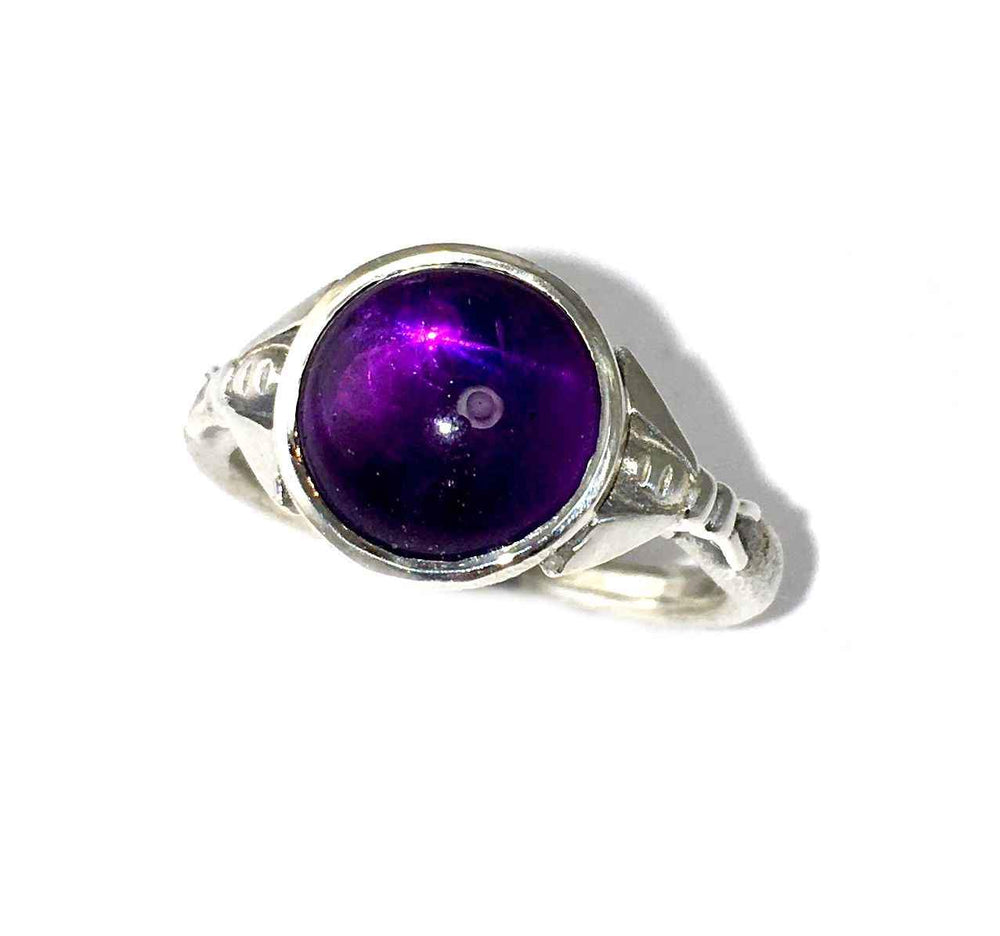Small Bee Amethyst Ring
