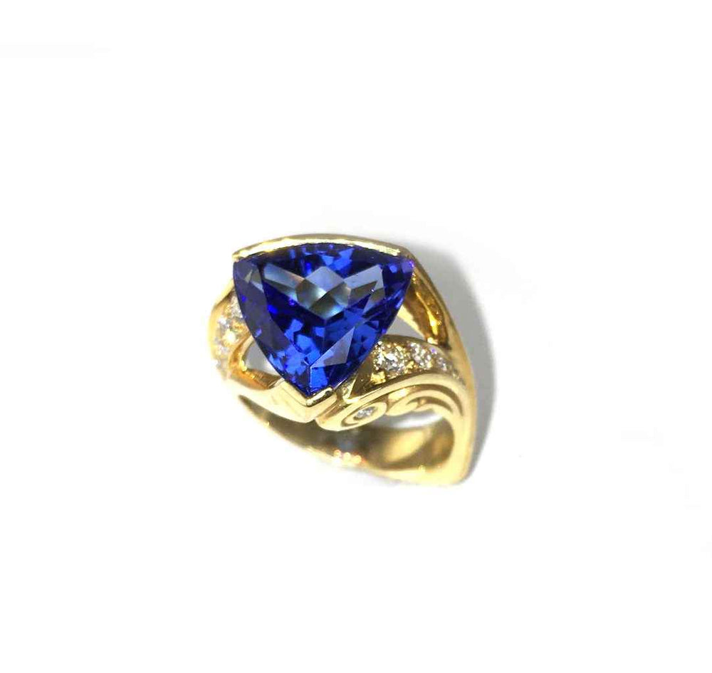 Tanzanite Trillion Ring-Jewelry-Michael Tatom-Sorrel Sky Gallery