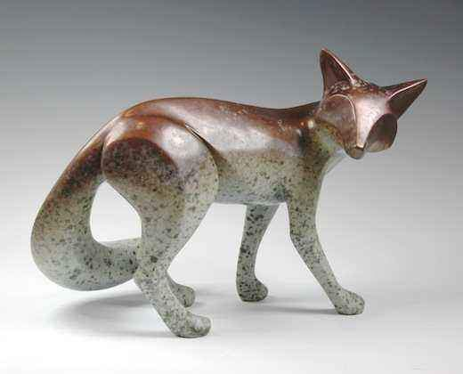 Michael Tatom-Large Bronze Fox-Sorrel Sky Gallery-Sculpture