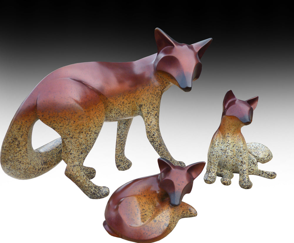 Lifesize Fox Family