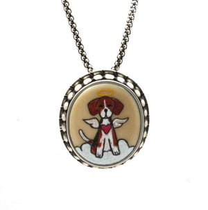 Beagle Angel Pendant