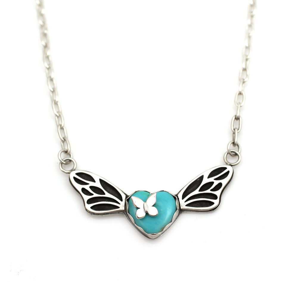 Butterfly Winged Heart Pendant