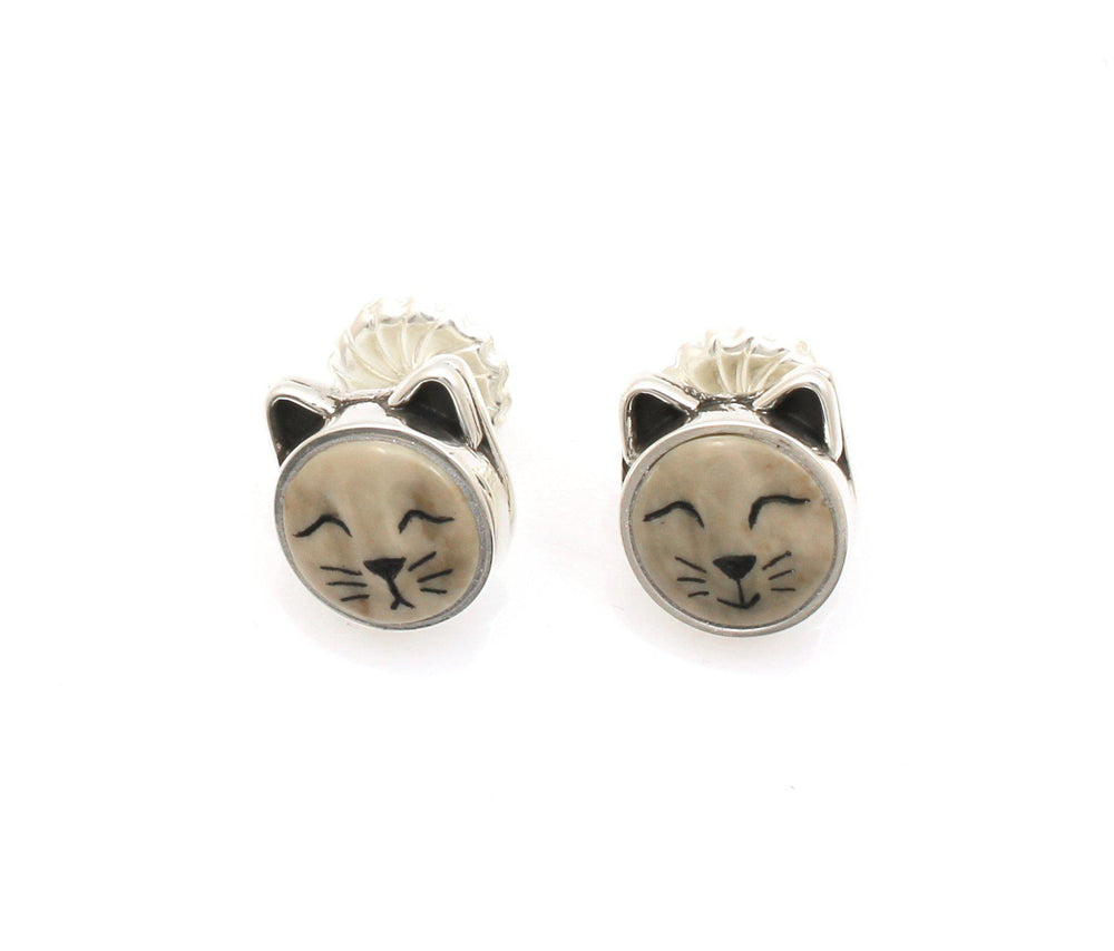 Cat Post Earrings-Jewelry-Michelle Tapia-Sorrel Sky Gallery