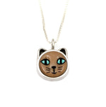 Cat With Blue Eyes Pendant