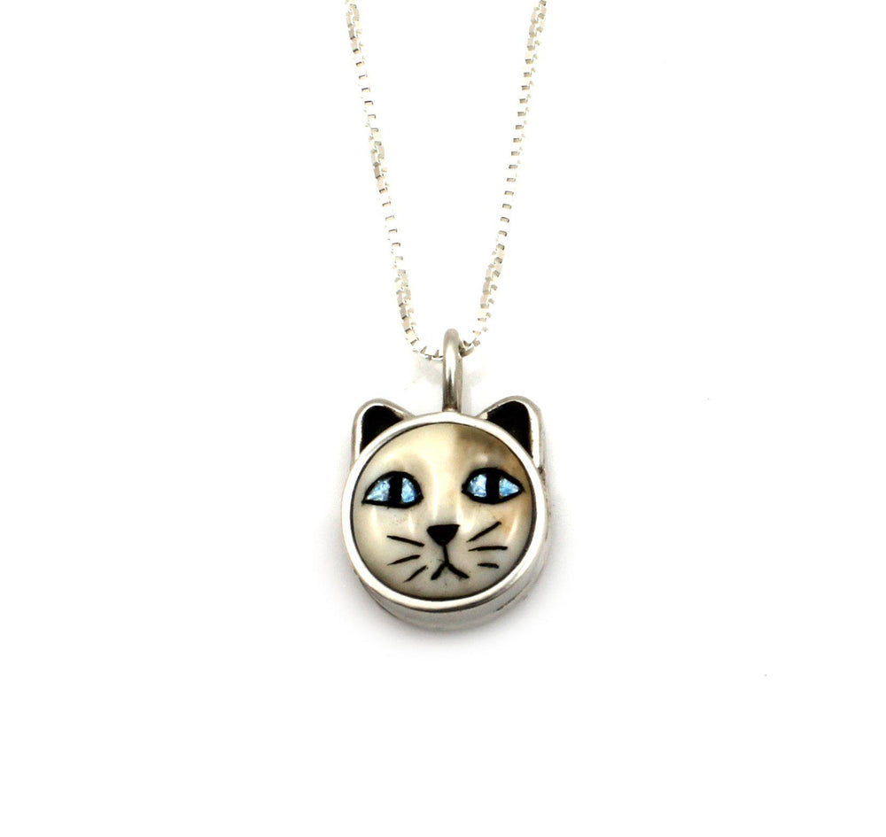 Cat With Blue Eyes Pendant-Jewelry-Michelle Tapia-Sorrel Sky Gallery