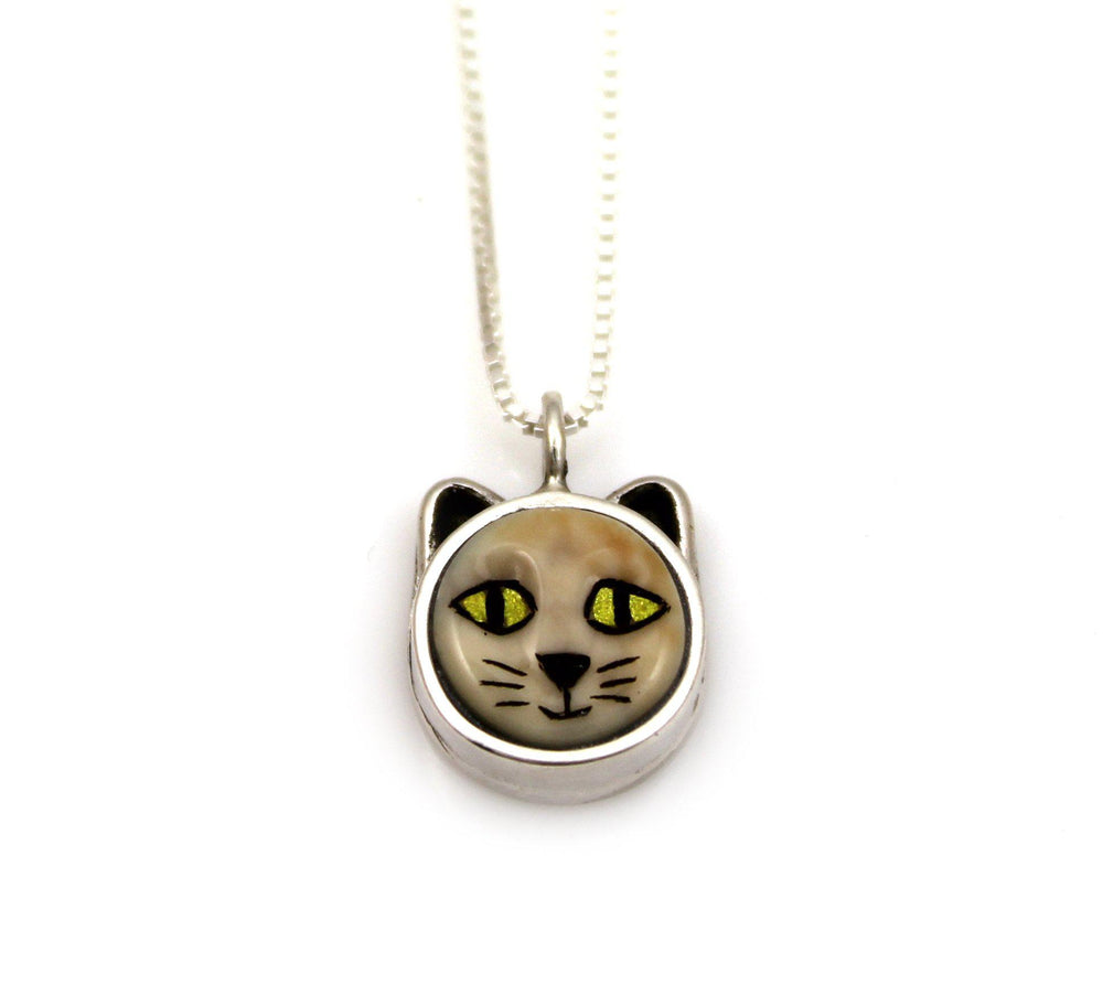 Cat With Gold Eyes Pendant-Jewelry-Michelle Tapia-Sorrel Sky Gallery