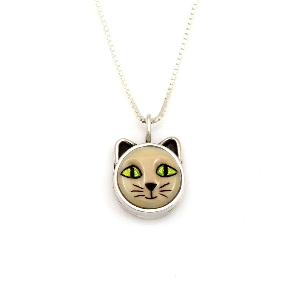 Cat With Green Eyes Pendant