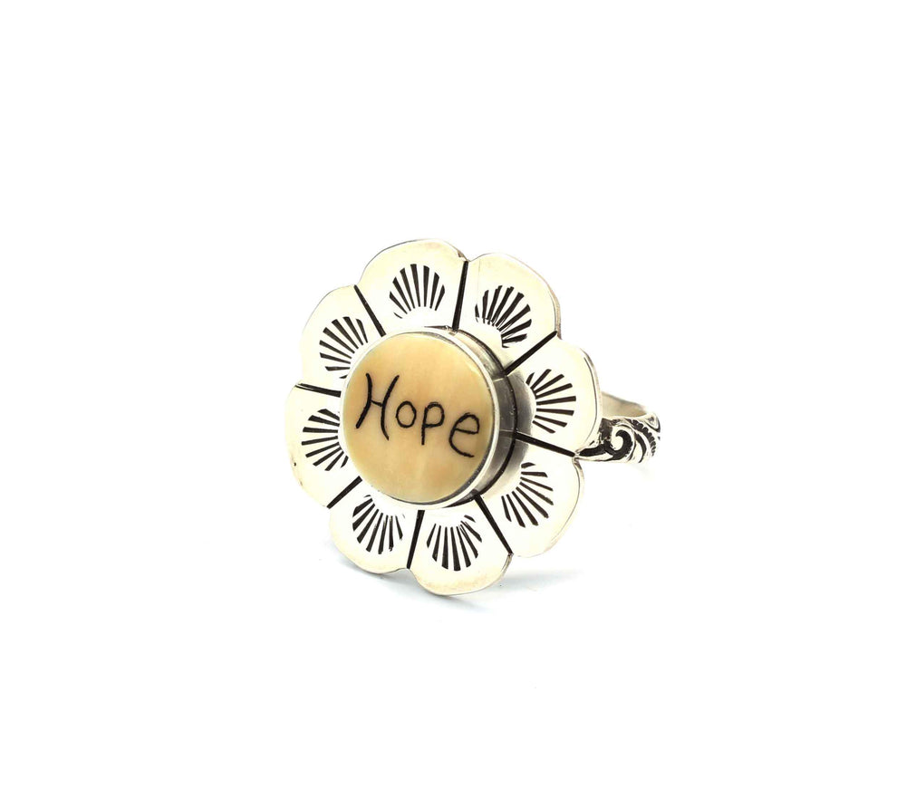 Sorrel Sky Gallery-Jewelry-Michelle Tapia-HOPE Flower Ring