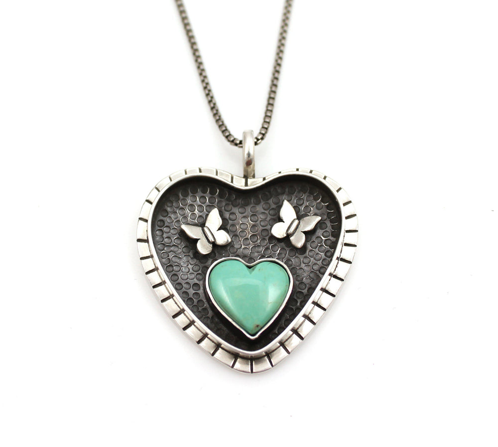 Large Shadow Box Heart Pendant