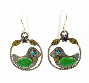Nesting Bird Earrings-Jewelry-Michelle Tapia-Sorrel Sky Gallery