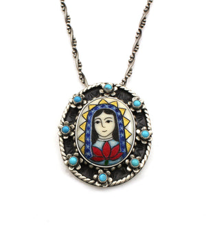 Our Lady Of Guadalupe Pendant-Jewelry-Michelle Tapia-Sorrel Sky Gallery
